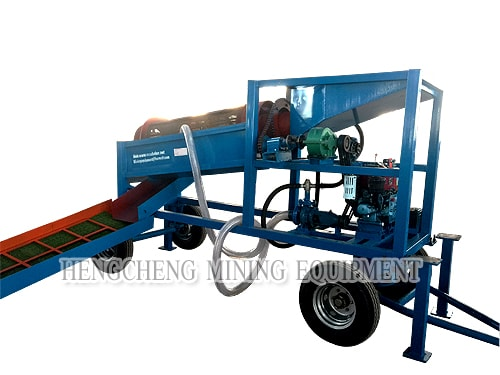 Small Mobile Gold Washing Trommel